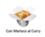 Arroz con marisco al curry