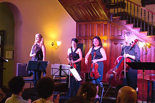 Purely Mozart team: Monika, Anne Horton - violin, Yoko Okayasu - viola, Trish O'Brien - cello