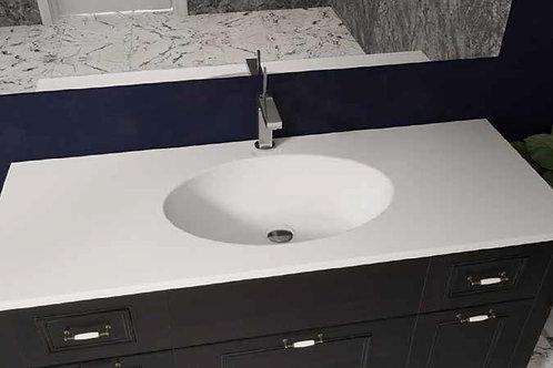 דור רפאל | משטח עם כיור אמבטיה אקרילי רקפת