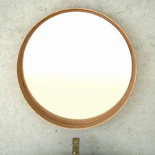 דור רפאל | מסגרת עגולה פורניר מראה לאמבטיה