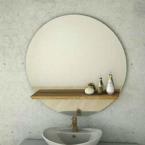 דור רפאל | מדף עגולה מראה לאמבטיה