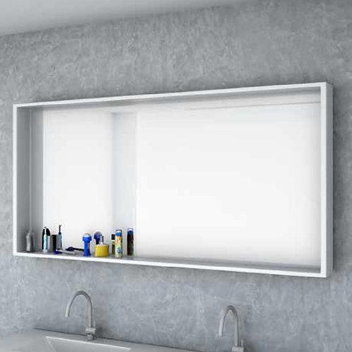 דור רפאל | מסגרת מדף מלבנית, אפוקסי  מראה לאמבטיה