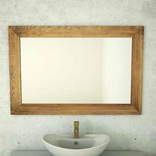 דור רפאל | מסגרת עץ מלא מראה לאמבטיה