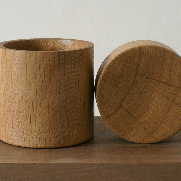 a large Oak Box, all made from a single piece of timber.