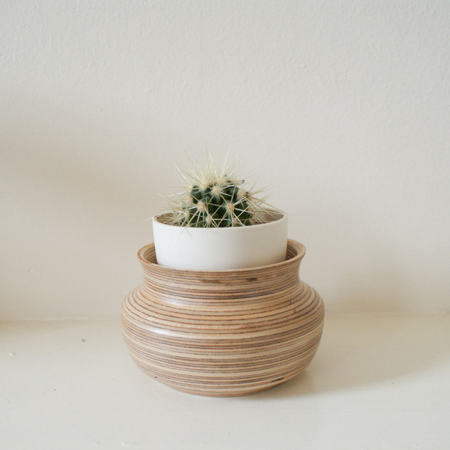 Birch Plywood vessel made from remnants of a larger project