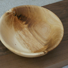 a lovely Sycamore Bowl made from Sycamore that was felled here in Scotland