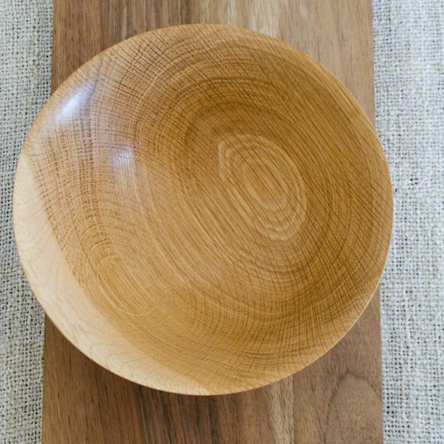 A birds eye view of an Oak bowl
