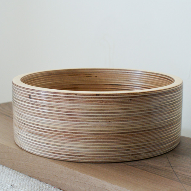 A large Laminated Birch Plywood Bowl