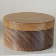 This beautiful Black Walnut box is topped with an Iroko lid made from the remnants of a larger project.