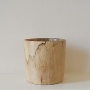 This Sycamore vessel is made from a Sycamore tree that was felled in England. The grain has beautiful spalting through out