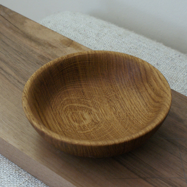 A lovely little oak bowl coated in Tung Oil