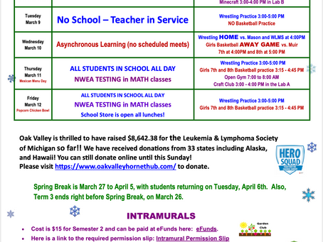 OVMS Weekly Events, Mar 8-12