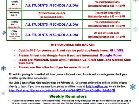 OVMS Weekly Events, Feb 8-12