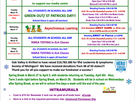 OVMS Weekly Events Mar 15-19