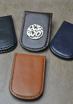 Personalised Leather Money Clip