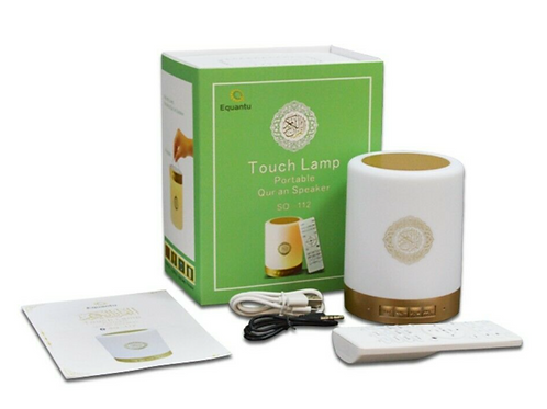 Touch Lamp  Full Quran Speaker MP3 Player 8GB TF FM Quran Translator