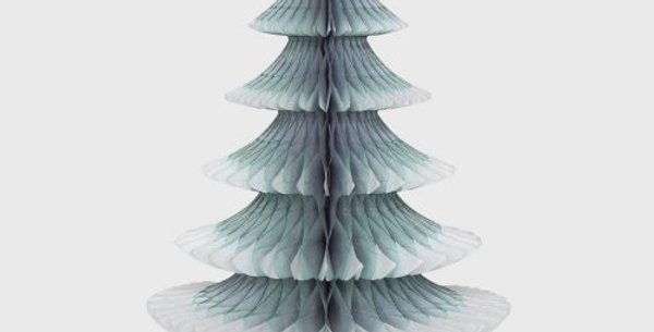 Snow Tipped Christmas Tree 25cm, Grey