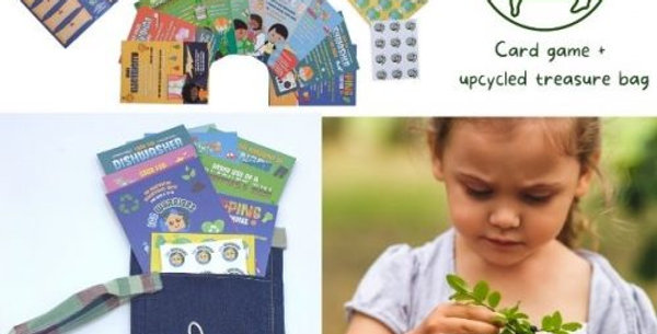 Eco Warriors Flash Cards and Upcycled Treasure Bag