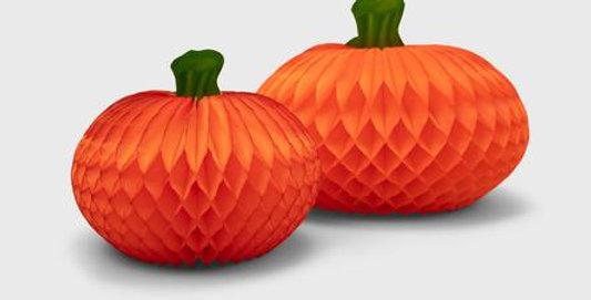 Honeycomb Pumpkin Pack of 2 - FSC Certified Paper