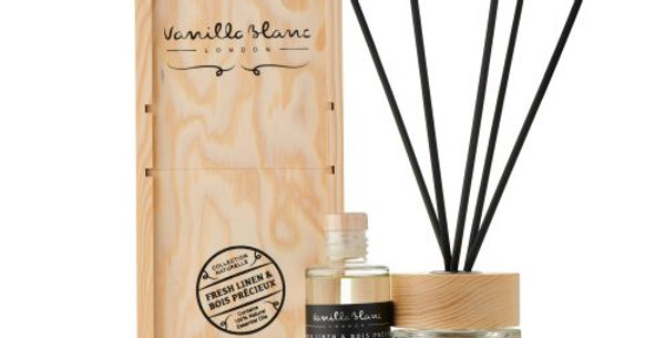 REED DIFFUSER GIFT SET – COMPLETE WITH REFILL Fresh Linen & Bois Precieux