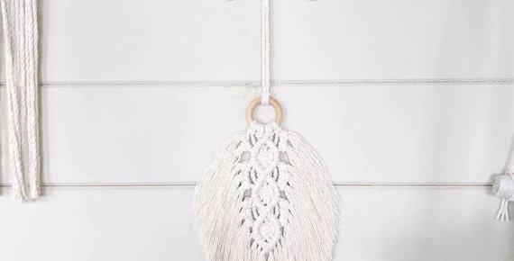 Macrame Feather Wall Hanging | Bohemian