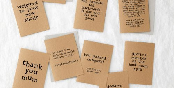 Greeting Cards - Recycled Card and Envelopes