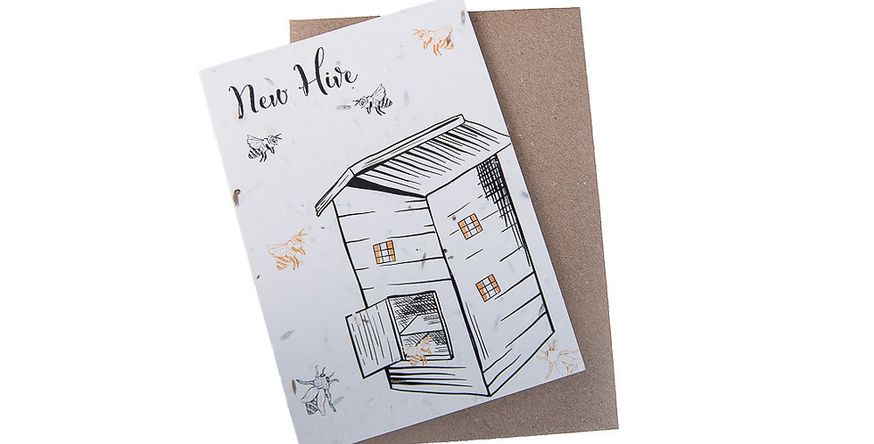 Plantable Buzzing To See You Card by Green Planet Paper