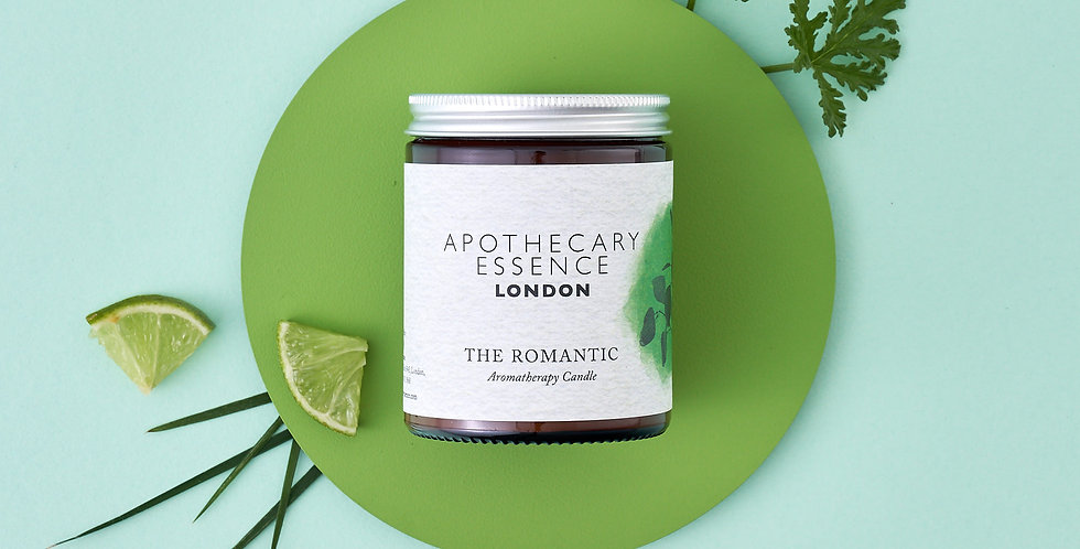 The Romantic Candle with Essential Oils
