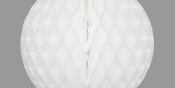 Honeycomb Ball 25cm, White FSC Certified Paper