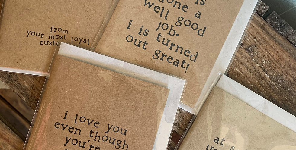 Father's Day Cards Recycled Card and Envelope