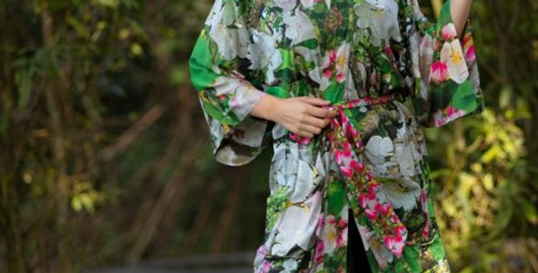 Blossoming Lightweight Robe From My Mother's Garden