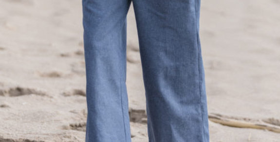 Recycled Cotton Denim Trousers