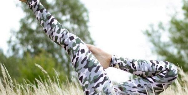 Camo Print Eco Friendly Yoga Pants - Recycled Plastic
