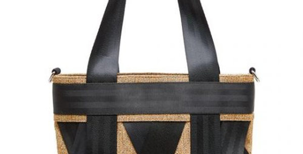 Mini Gold Leka Tote Bag - Made from Recycled Materials. 10% Proceeds to SOBS