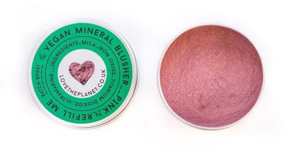 Vegan Mineral Blusher – Pink – Refillable Tin (5g)