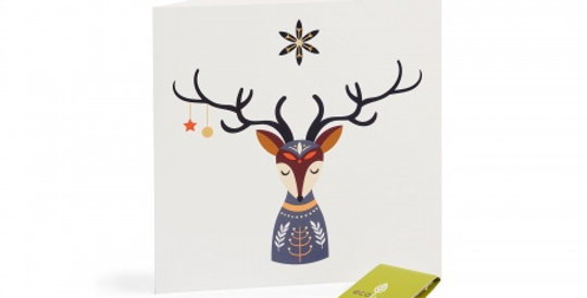 10 Recycled Christmas Cards - 10 Trees Planted (FSC 100%) Scandinavian Folk