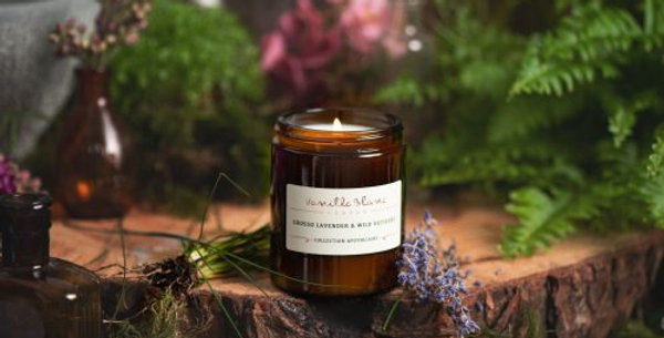 Organic Coconut Candle – Grosso Lavender & Wild Vetivert 170ml