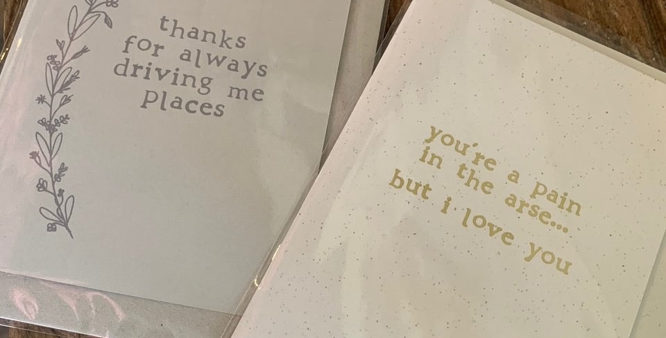 Father's Day Cards White Card