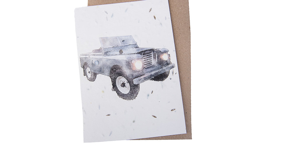 Plantable Greeting Card (Landrover) by Green Planet Paper