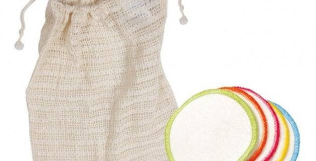10 Organic Make Up Remover Wipes & Wash Bag
