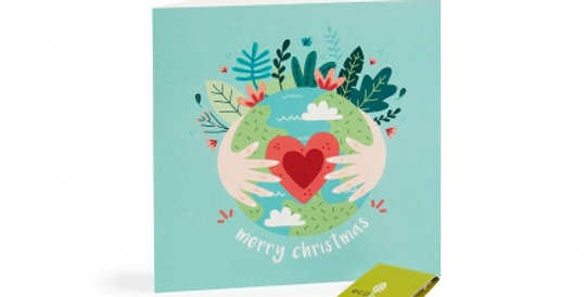 10 Recycled Christmas Cards - 10 Trees Planted (FSC 100%) Eco Earth