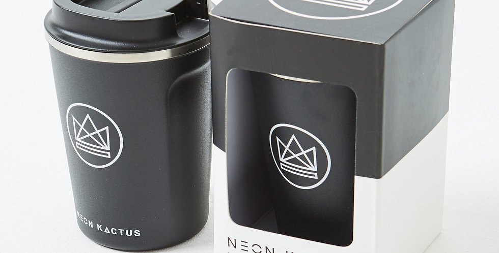 Neon Kactus Insulated Stainless Steel Coffee Cups 'Surfer Dude'