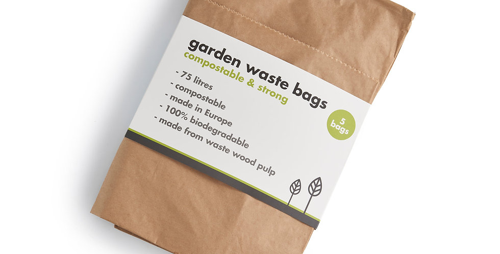Compostable Garden Waste Bags - Pack of 5