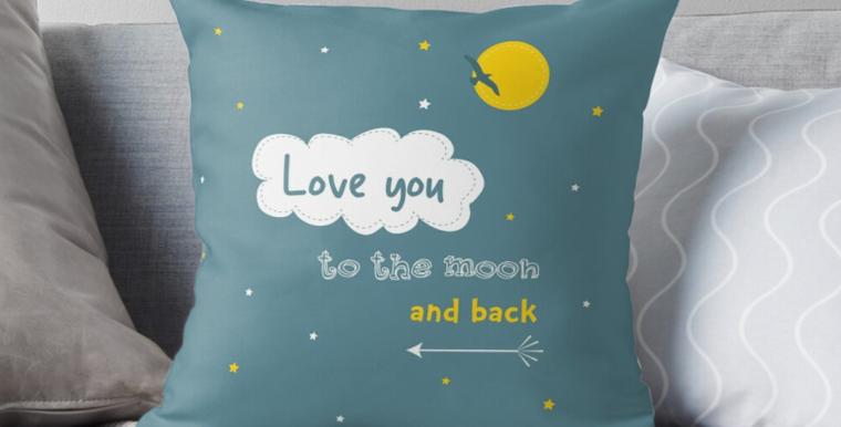 Cushion - Love you to the Moon and Back