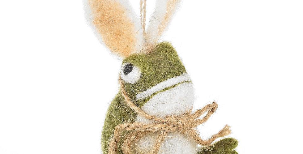 Handmade Felt Easter Toad Bunny