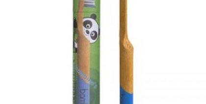 Kids Bamboo Toothbrush - Coral Pink/ Green / Aquamarine / Blue