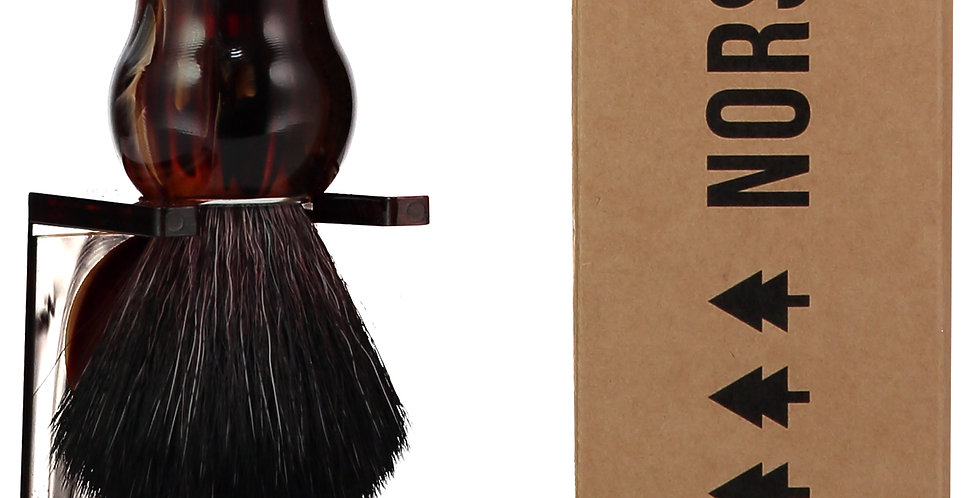 Shaving Brush – Tortoise Shell 100% Recycled Plastic