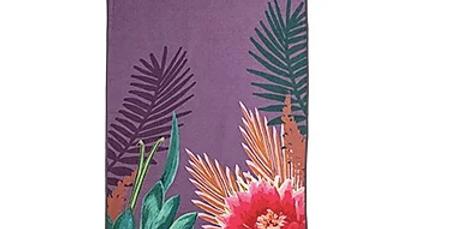 Tropicana Orchid Microfibre Yoga Towel Topper