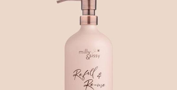 500ml Aluminium Bottle in Blush