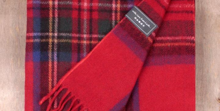 Recycled Wool Knee Blanket in Stewart Royal Tartan